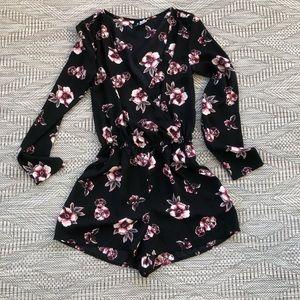 H &M black  floral romper